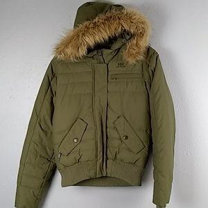 Women's Helly Hansen  Down Parka Hooded Coat Size